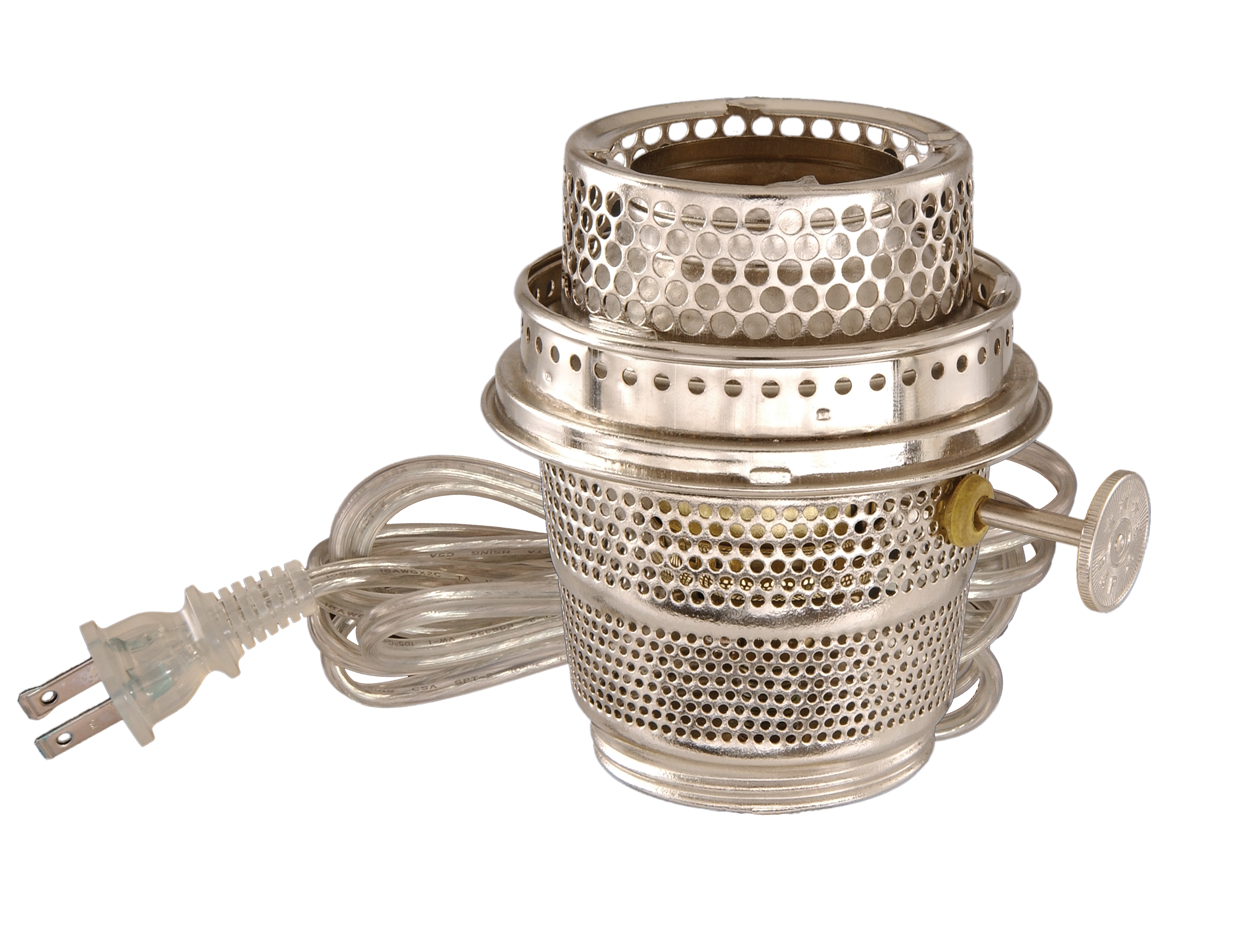 Early Style Nickel Plated Electrified Burner Designed To Fit Aladdin Brand  Lamp Models A, B, C, 21, 21C, U0026 23 And All Glass Models*.