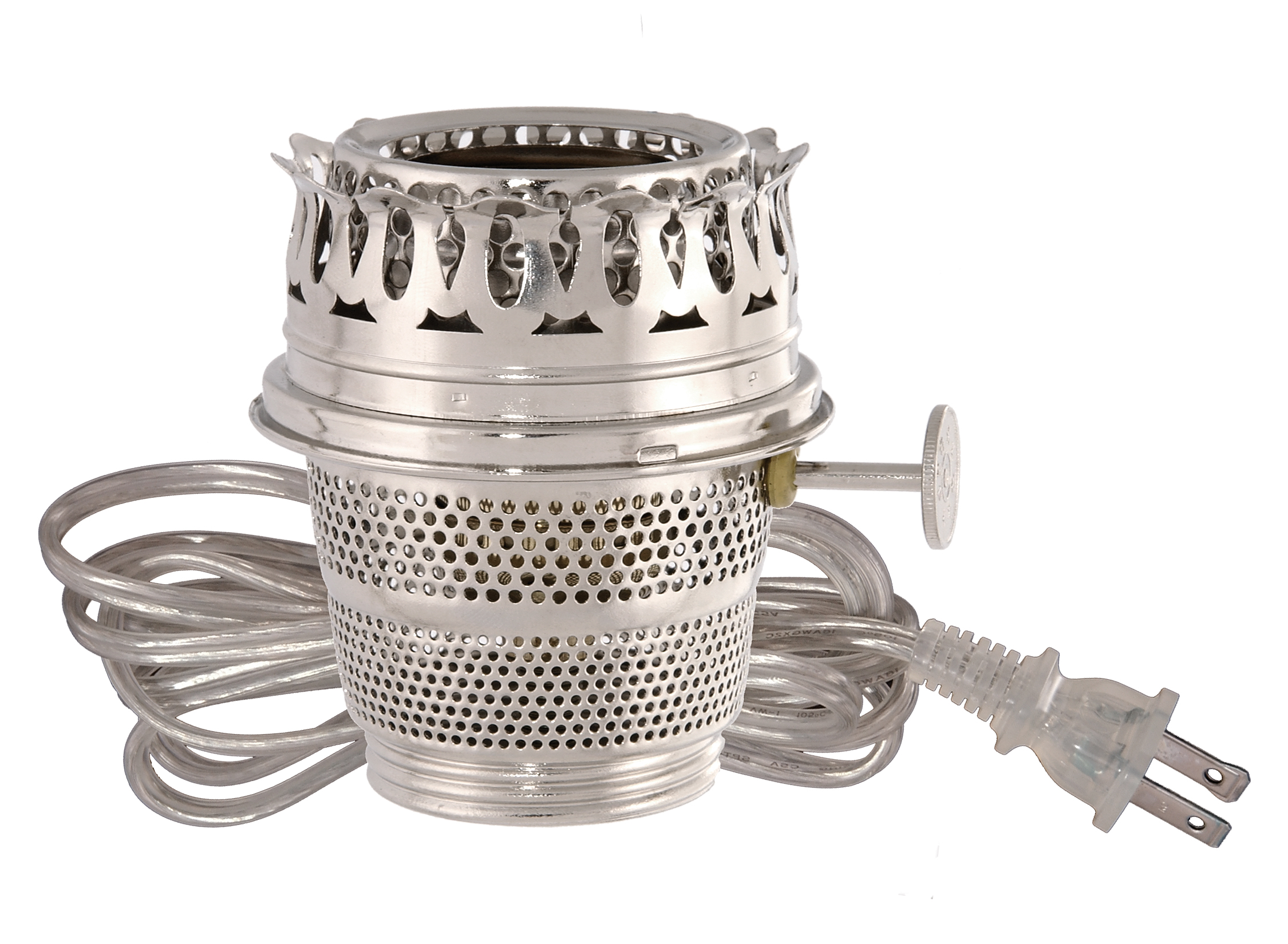 Nickel Plated Electrified Burner Designed To Fit Aladdin
