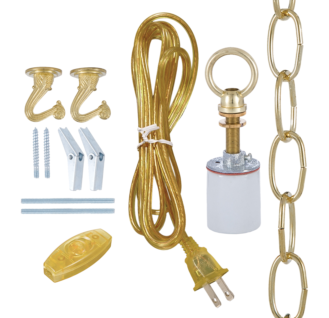 Lamps P: Swag Lamp Kit For Fabric Shades 30550A