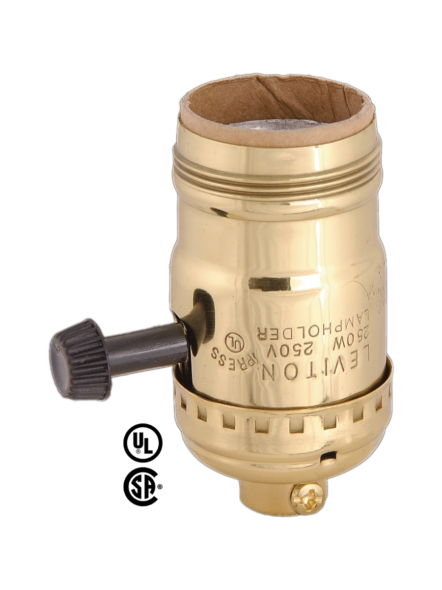 Leviton Brand, Socket for Wiring Bottom Lights, w/Uno Thread 40106 ...
