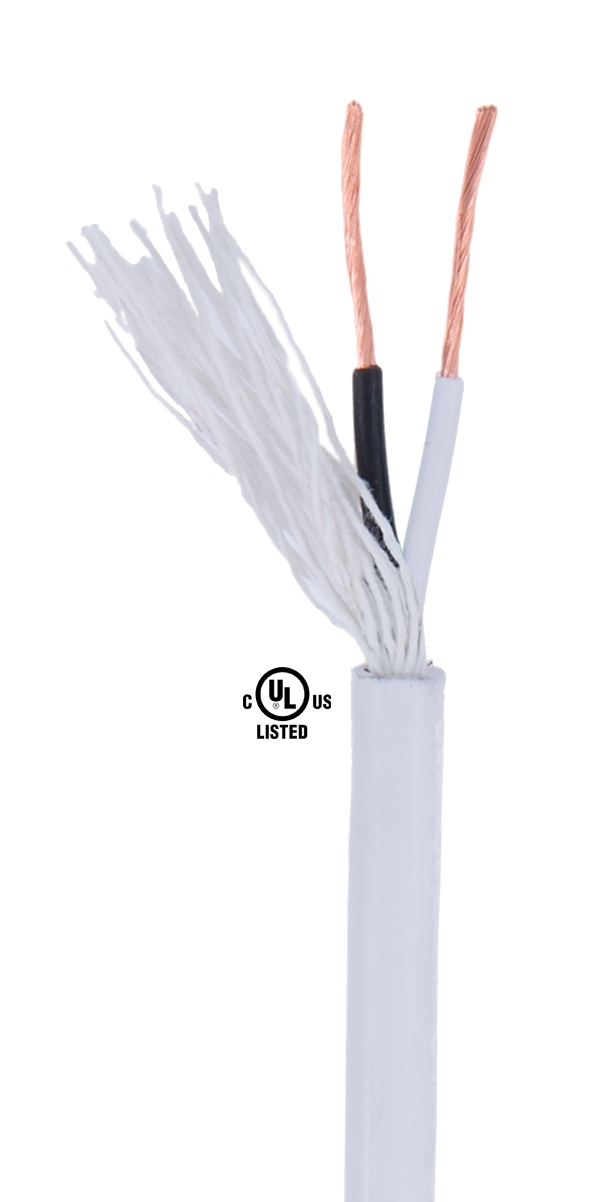 White PVC 2-wire Medium Duty SVT Spooled Lamp Cord 46616 | B&P Lamp ...