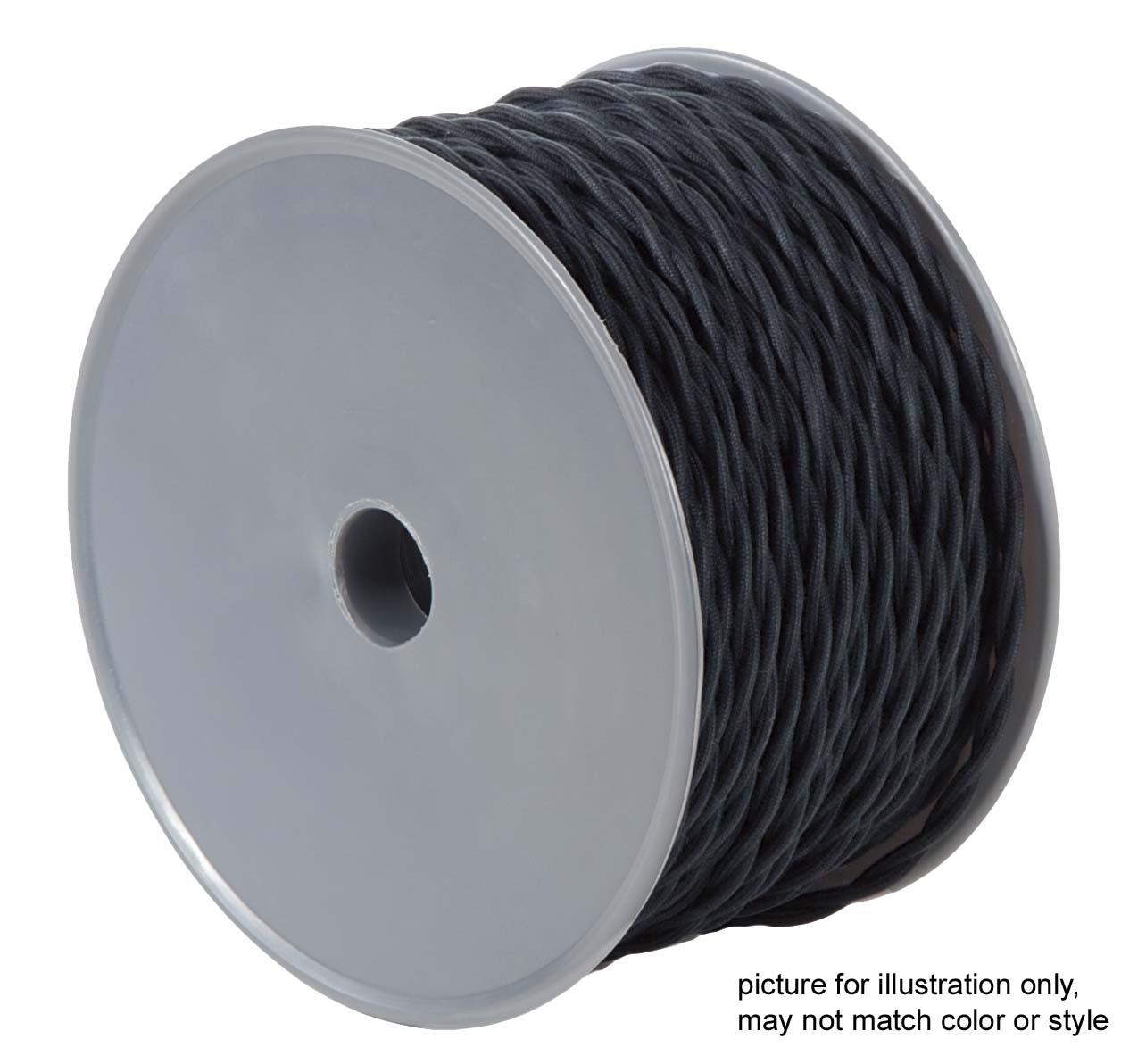 Dark Brown Cotton Twisted Pair Lamp Cord 46668F | B&P Lamp Supply