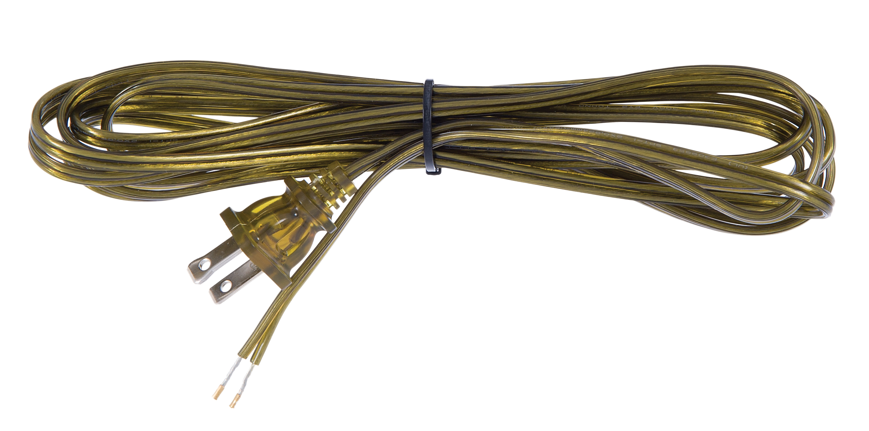 Antique Brass Color Lamp Cord Set 46718 | B&P Lamp Supply