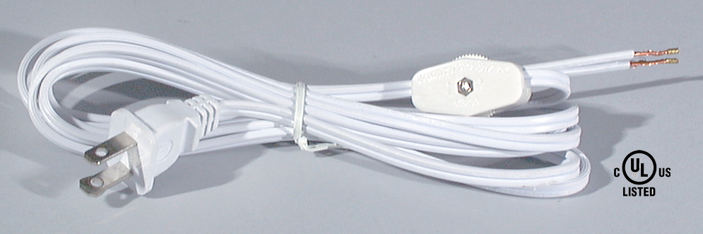 8 Ft Cord Sets W Rotary On Off Switches 46750 B Amp P Lamp
