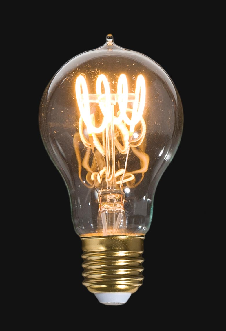 Led Vintage Style Light Bulb A19 Medium Size E26 W Loop Filament 47260 B Amp P Lamp Supply