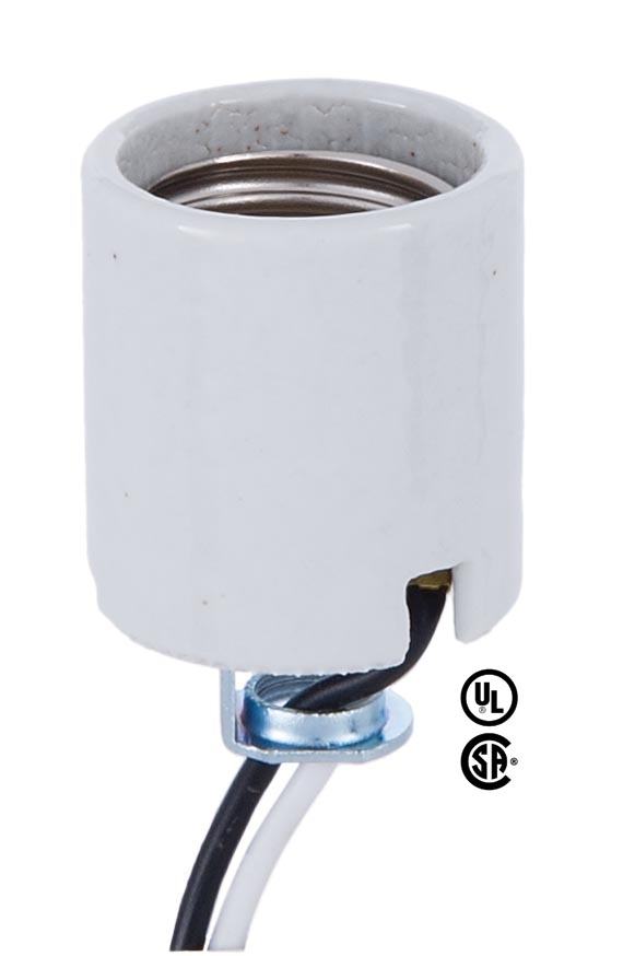 Medium Base Porcelain Socket With Hickey And 42 Lead Wires
