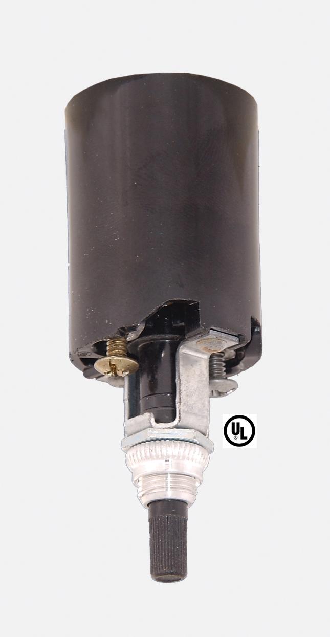 Bakelite socket fixture w bottom turn knob 48100i bp for Floor lamp knob