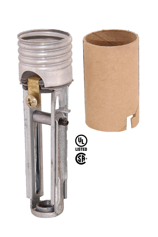 Medium Base Adjustable Keyless Candle Socket 48208 B Amp P