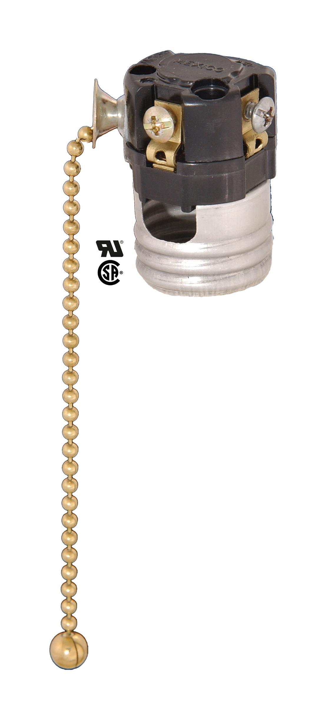 B P Lamp Pull Chain Socket Interior No Paper Insulator
