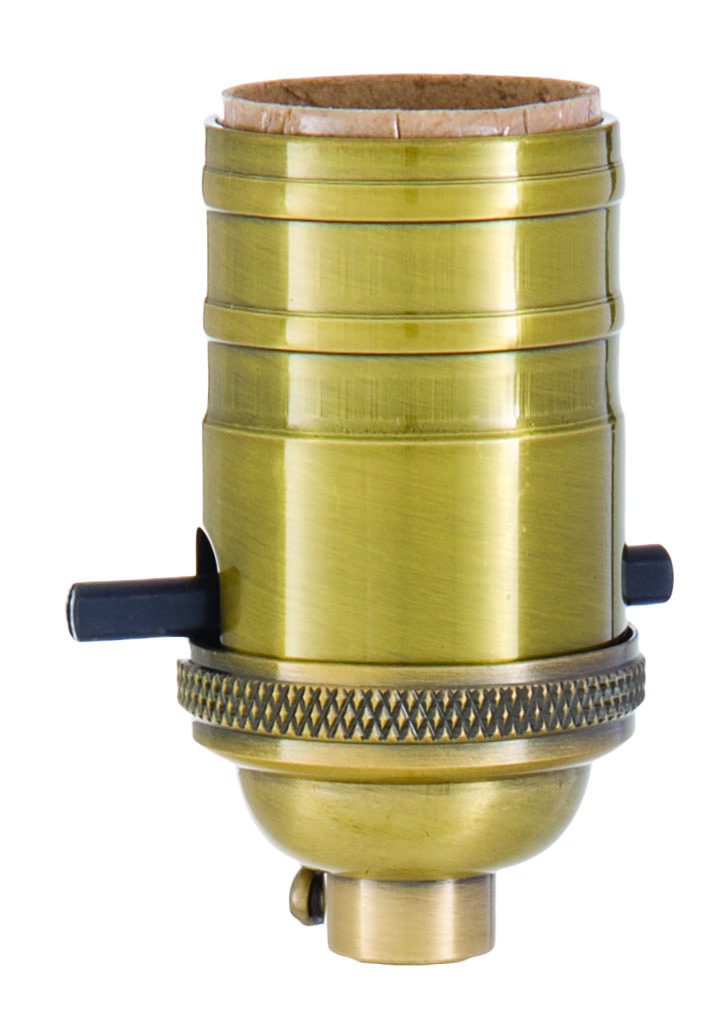 Heavy Turned Brass Push Thru Premium Lamp Sockets 48251a