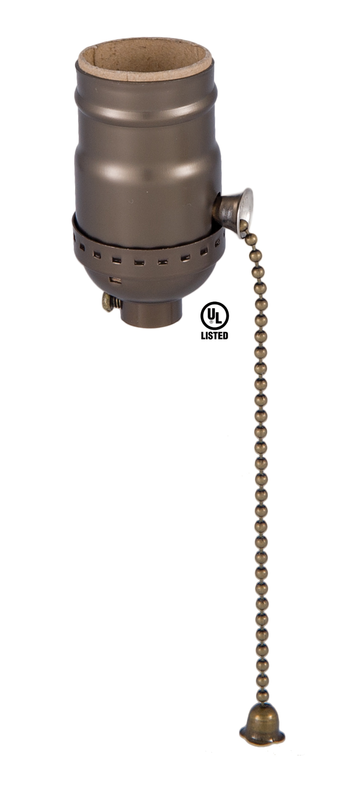 Pull Chain On Off Medium Base Lamp Socket With Antique