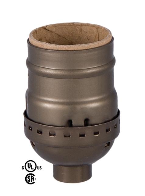 Short Keyless Medium Base Lamp Socket With Antique Brass Finish 48348a B Amp P Lamp Supply