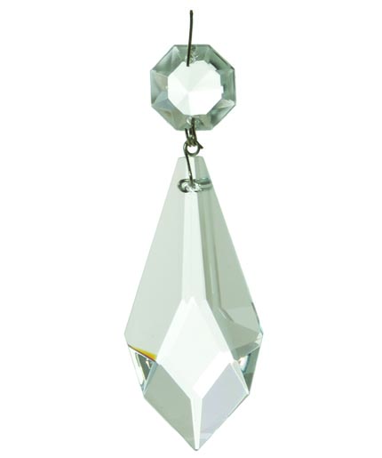 """63mm Clear Glass Crystal Pendalogue Prism w// Brass Pins Chandelier Lamp 2 1//2/"""""""
