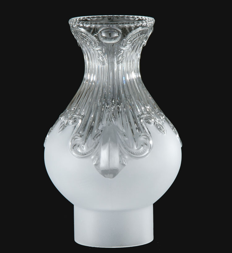 Frosted Amp Clear Embossed Glass Chimney 57996 B Amp P Lamp