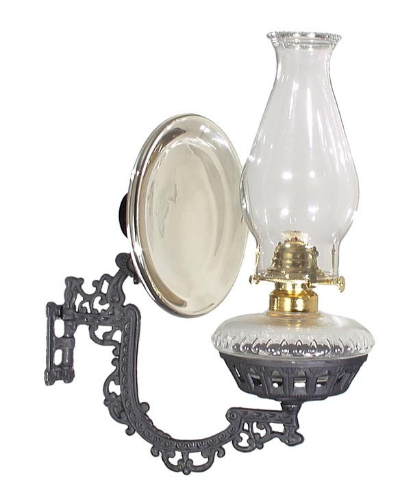View image in new window 63317 - Oil Burner, Glass Reflector Type Wall  Bracket - Glass Reflector Type Wall Bracket - For Kerosene 63317 B&P Lamp
