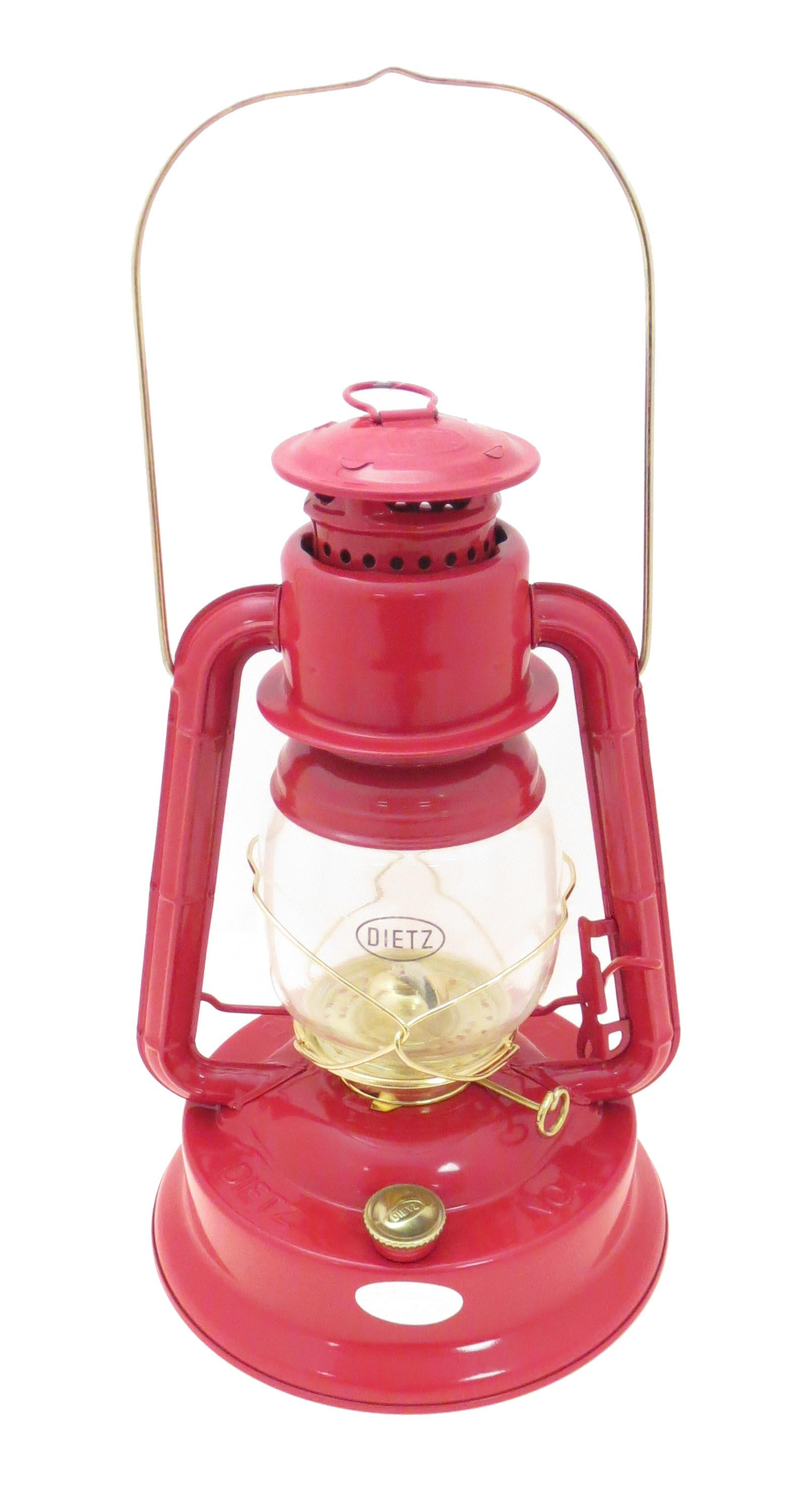Dietz® #1  Little Wizard  oil lantern Red Paint with Gold Trim. 12  ht. X 7.75  wide burns 45 hours on 36 oz. of fuel. 9 candlepower comes with 5/8  wick.  sc 1 st  Bu0026P L& Supply & Red and Gold Dietz Brand #1 Little Wizard Oil Lantern 69860 | Bu0026P ...