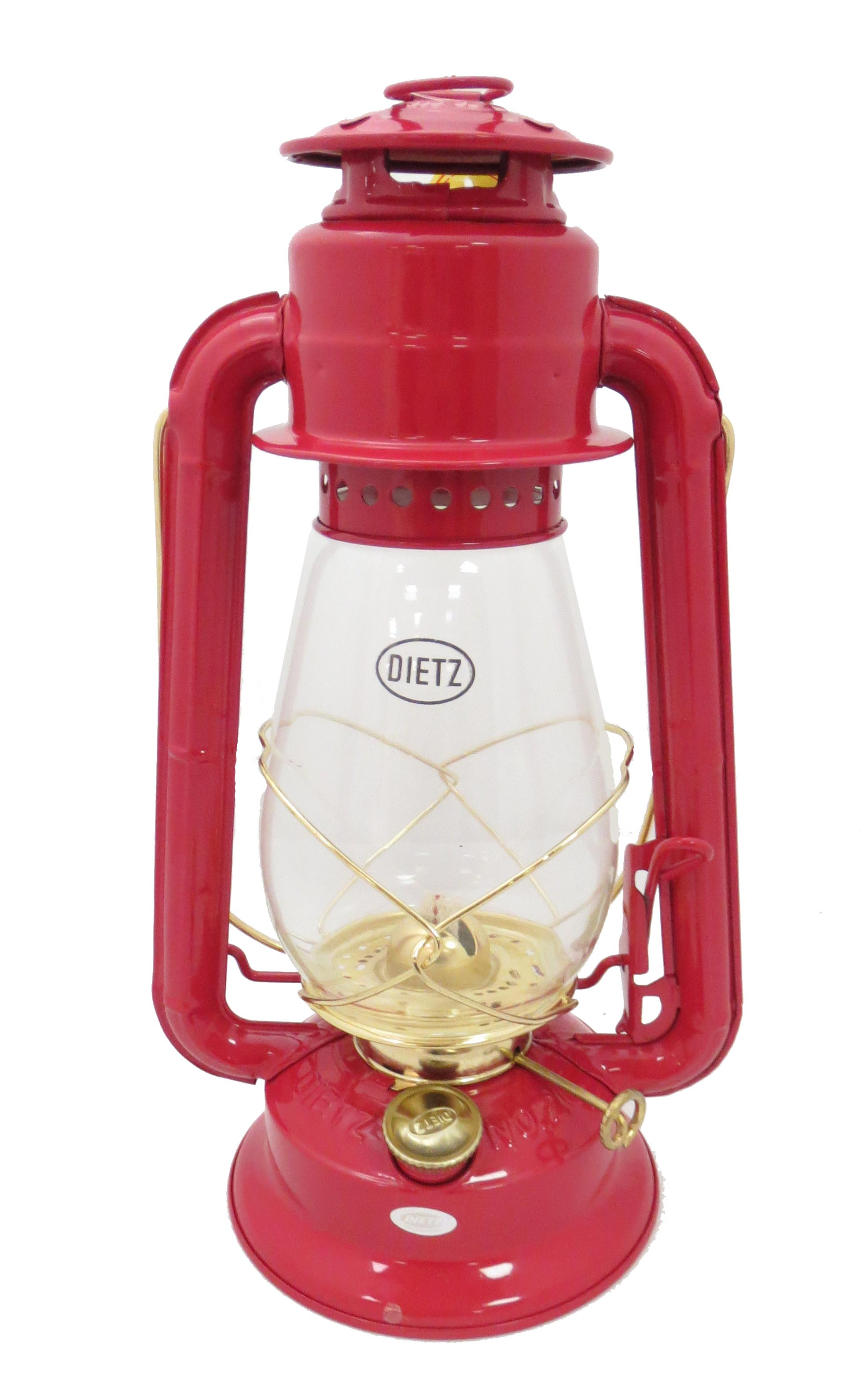 Dietz 20 Junior Lantern Red With Gold Trim 69878 B Amp P