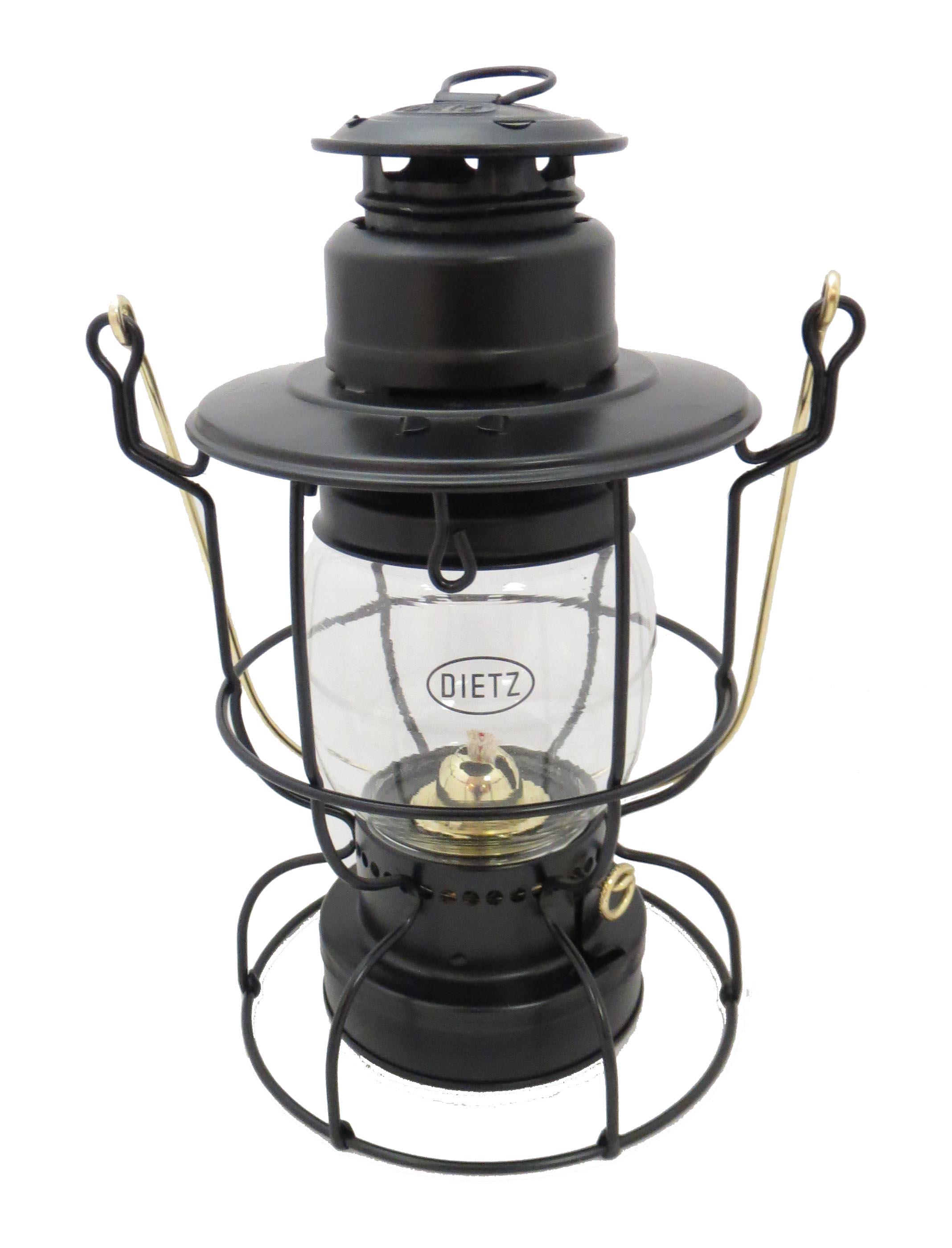 Dietz Watchman Railroad Oil Lantern Black With Gold Trim