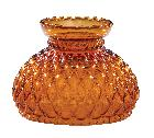 "7"" Diamond Quilted Amber Glass Shade"