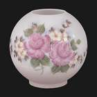 "8"" dia., Hand Painted ""Bridal Roses"" Shade"