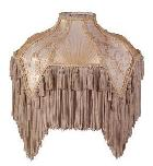 Beige Fringe Victorian Table Lamp Shades