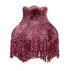 Victorian Style Velvet Burnout Panel Lamp Shade in Rose Color