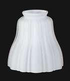 Satin Opal Sheffield Style Fixture Shade