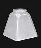 Straight Side Inside Sandblast Mission Fixture Shade