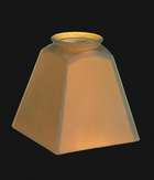"**2 1/4"" Satin Amber Mission Shade**"