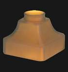 Satin Amber Mission Fixture Shade, Wide