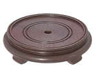 Rosewood Finish, Footed Oriental Wooden Bases