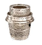 Nickel Plated, Solid Brass Cut-out burner For Aladdin Brand Lamp