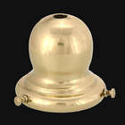 "**2 1/4"" Fitter, Bulbous-Shaped Spun Brass Shade Holder - 2nds**"