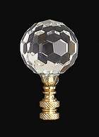 "2 5/8"" Crystal Finial"