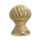 "1 3/8"" ht., Cast Brass Finial Knob, Tap 1/8F"