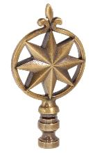 "3 1/8"" Cast Metal Finial"
