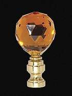 "2 1/4"" Amber Glass Finial"