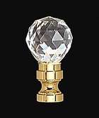 "1 9/16"" Crystal Finial"
