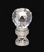 "1 9/16"" Lead Crystal Finial"
