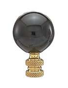 "2"" Black Ceramic Ball Finial"