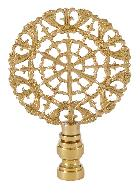 Cast Brass Rose Lamp Finial