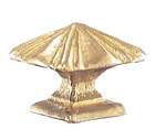 "1 1/8"" ht., Brass Mission Style Finial, Tap 1/8F"