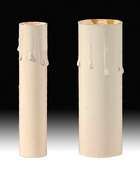 Ivory-Tinted Paper Board Candle Covers