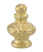 "1 3/8"" Die Cast Brass Finial Knob, Tap 1/8F"