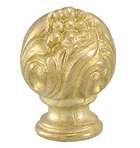 "2"" ht., Large, Cast Brass Finial, Tap 1/8F"