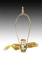 "Oil to Electric Lamp Adaptor with 9"" Harp"