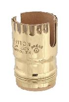 Leviton Brand Two slot, electrolier size socket shells for use with push-thru type socket interiors