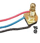 3-Way Brass Rotary Switch with Long Shank