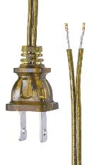 Antique Brass Color Lamp Cord Set