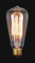 Antique Style Light Bulb With 60Watt and 140 Lumens